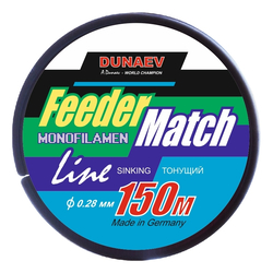 Леска Dunaev Feeder-Match Sinking Black 0.28мм 150м