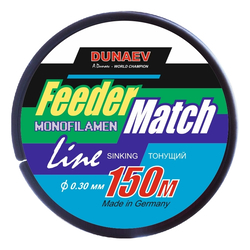 Леска Dunaev Feeder-Match Sinking Black 0.30мм 150м